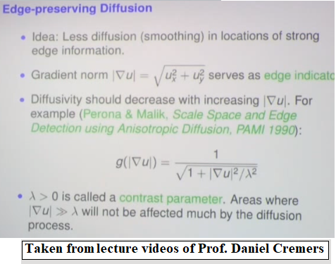Diffusion, PDE and Variational Methods in Image Processing and ...
