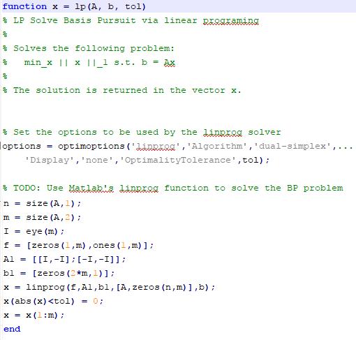 Dual Simplex Code